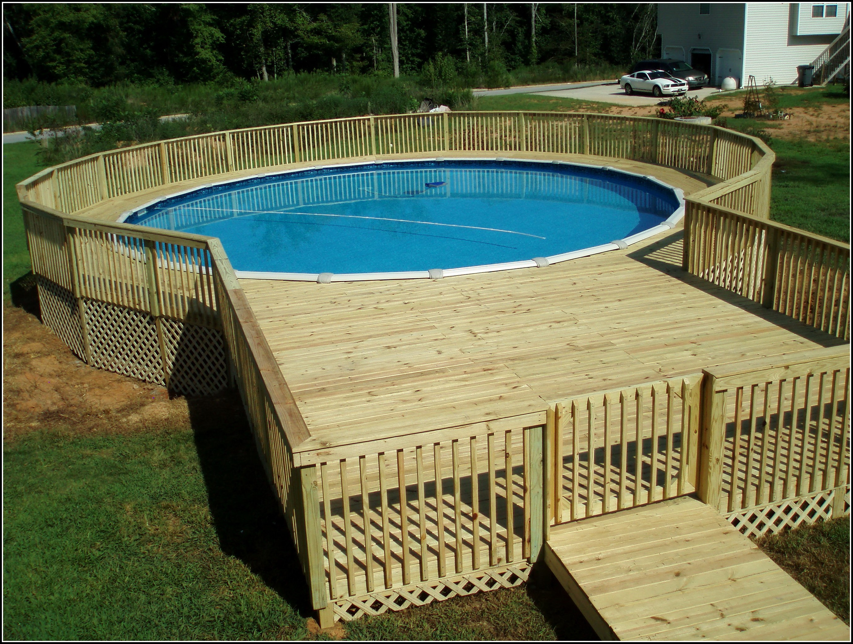 24 Above Ground Pool Deck Plans