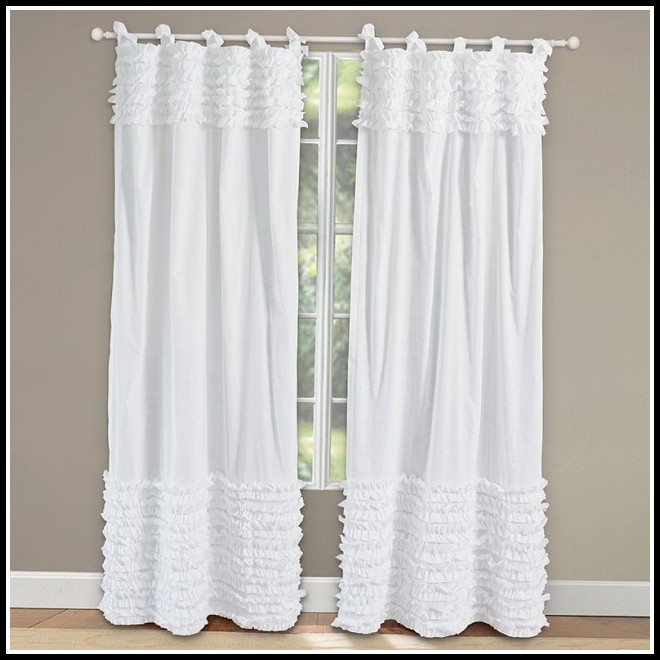 96 Inch Curtains White