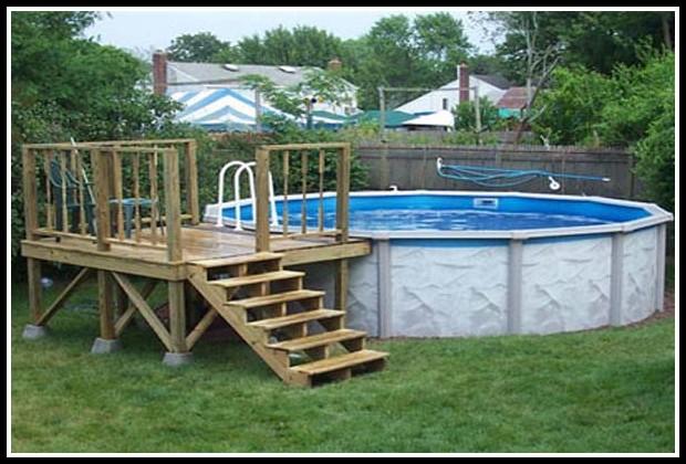 Above Ground Swimming Pool Decks Plans Free Mycoffeepot Org