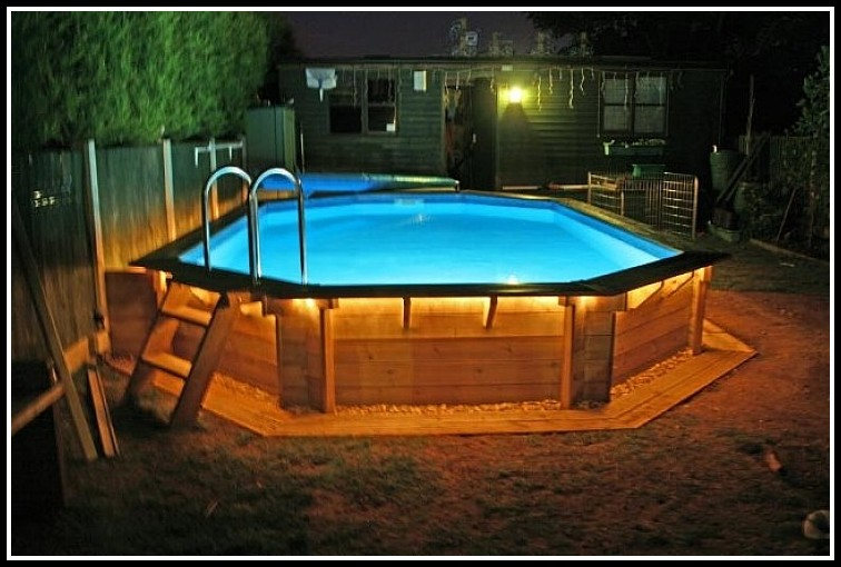 Above Ground Pool Wood Deck Kits Decks Home Decorating