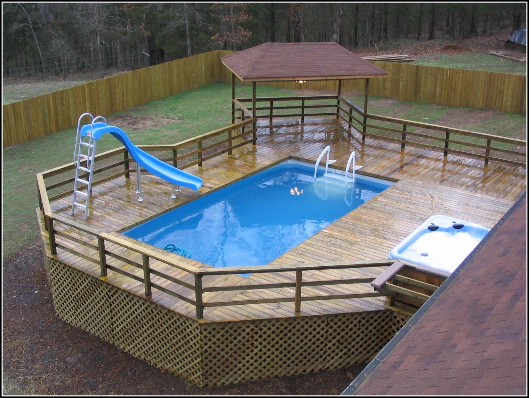 Above Ground Pools Decks Designs