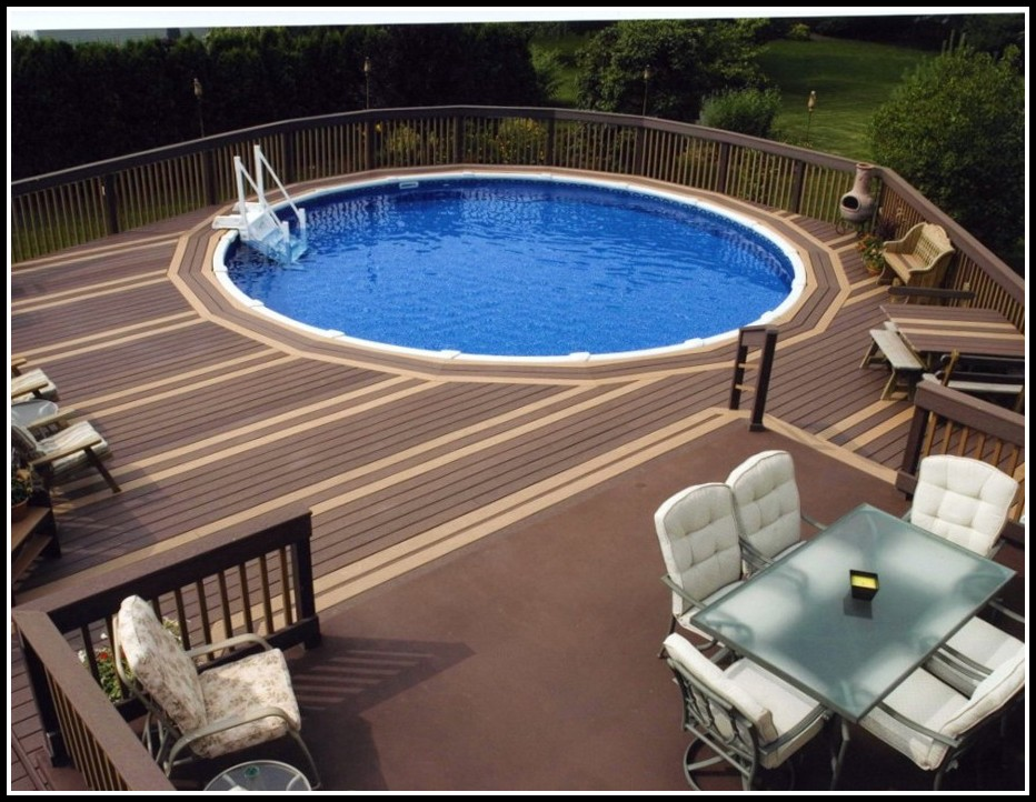 Above Ground Pools With Decks Installed Nj