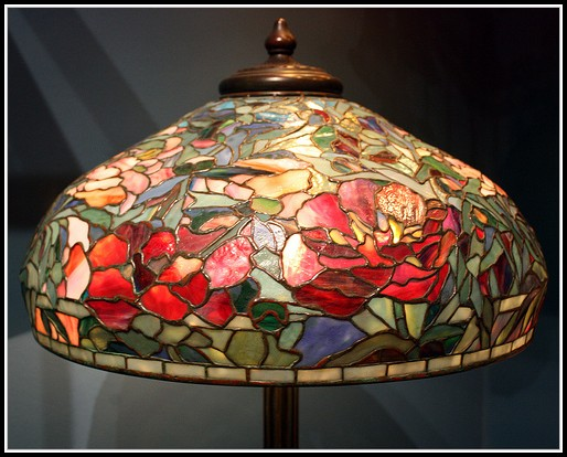 Antique Stained Glass Lamp Shades
