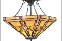 Antique Stained Glass Light Fixtures