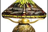Antique Tiffany Dragonfly Table Lamp