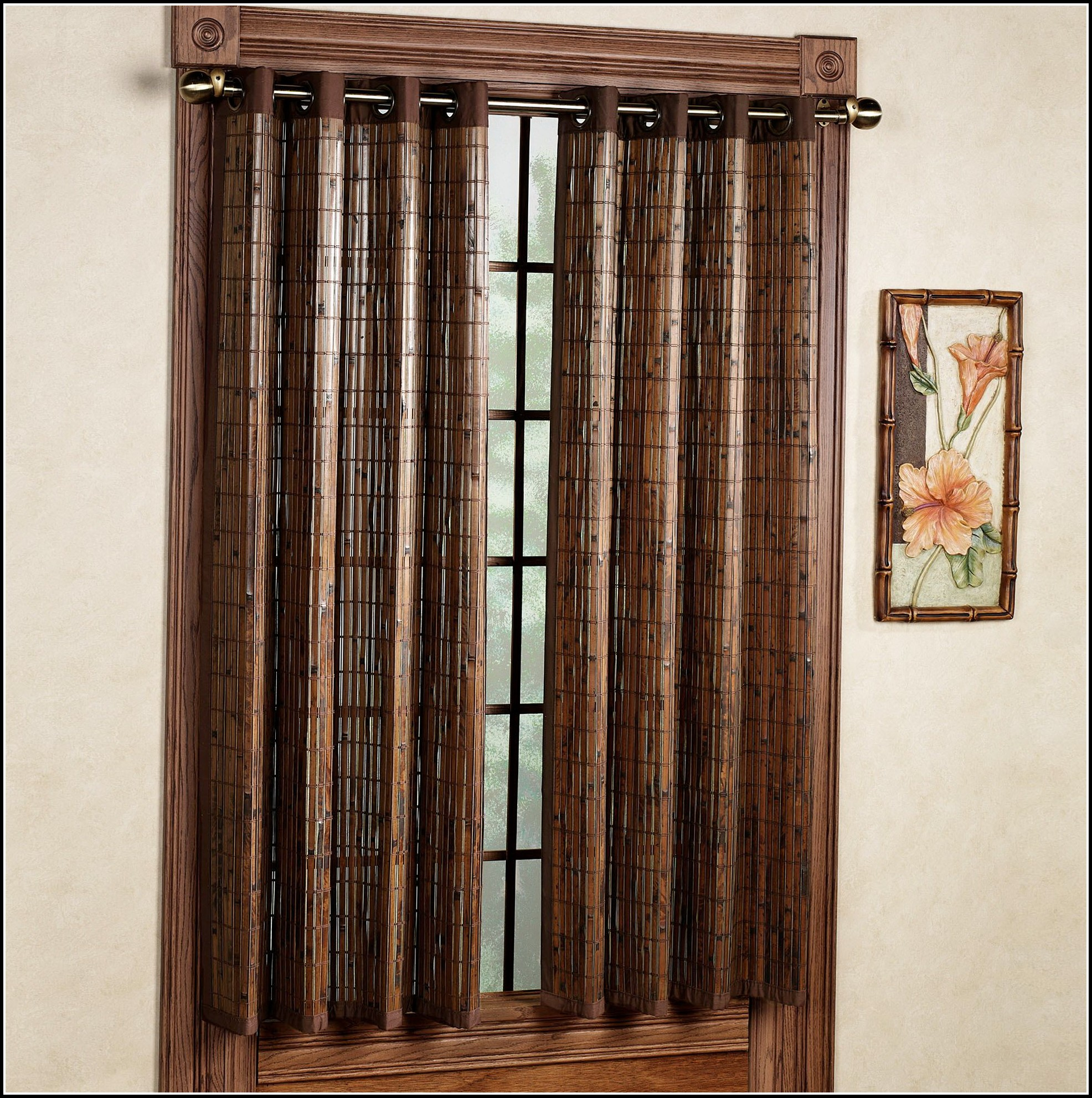 Bamboo Curtain Panels Grommet