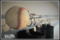 Baseball Curtain Rod Finials