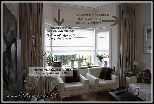 Bay Window Curtain Ideas For Living Room