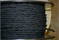 Black Cloth Covered Lamp Cord