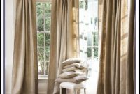 Burlap Curtain Panels 108