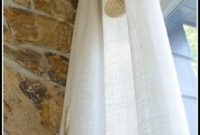 Burlap Curtain Panels Diy