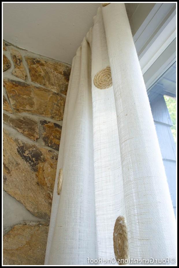 Burlap Curtain Panels Diy