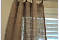Burlap Curtain Panels With Grommets