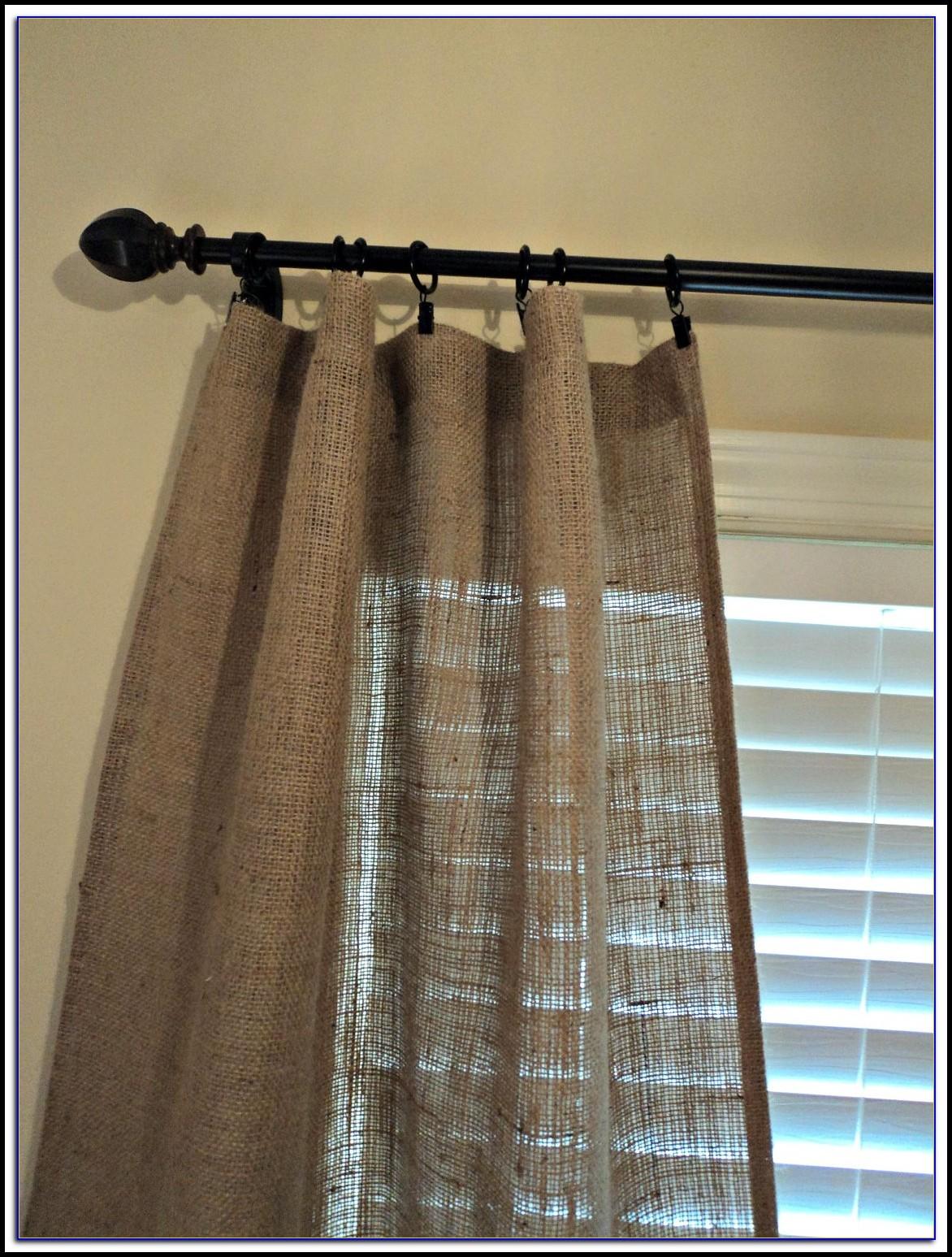 Burlap Curtain Panels With Grommets