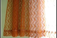 Burnt Orange Sheer Curtains