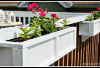 Deck Rail Planter Boxes