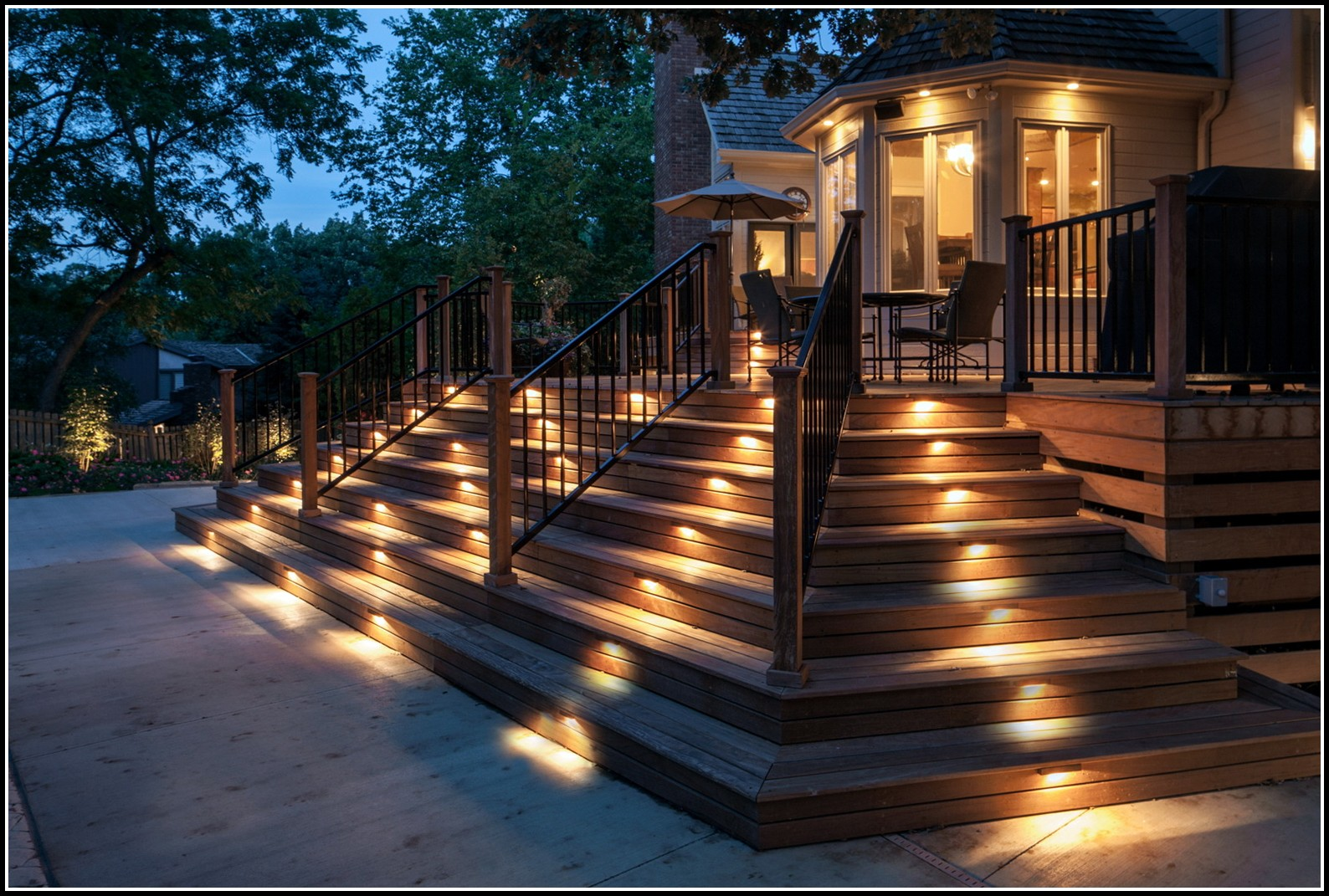 Deck Stair Lighting Kits Decks Home Decorating Ideas