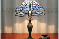Dragonfly Stained Glass Table Lamp