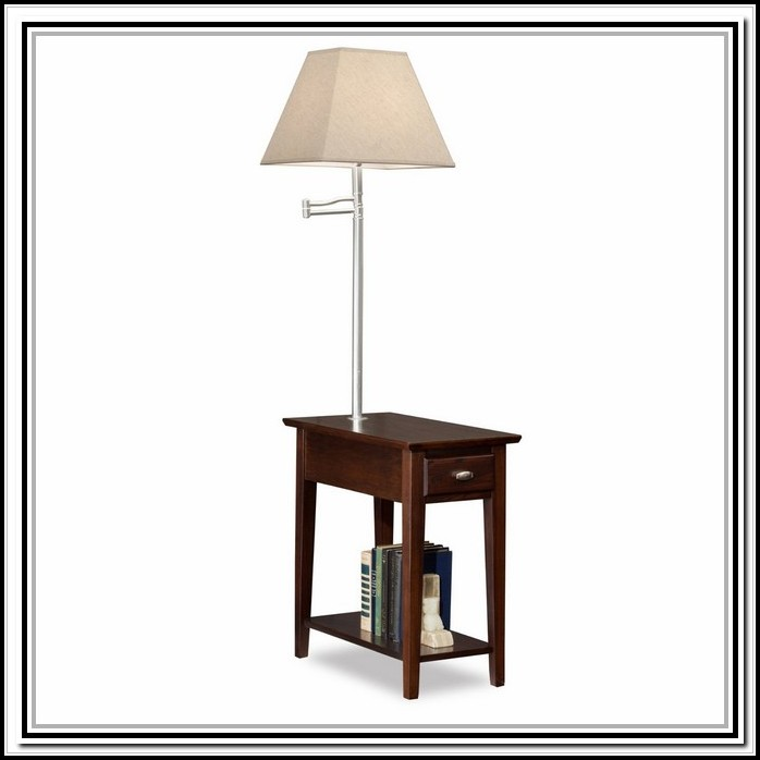Superb End Table With Lamp Attached Walmart Lamps Home Download Free Architecture Designs Rallybritishbridgeorg