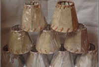 Faux Leather Mini Lamp Shades