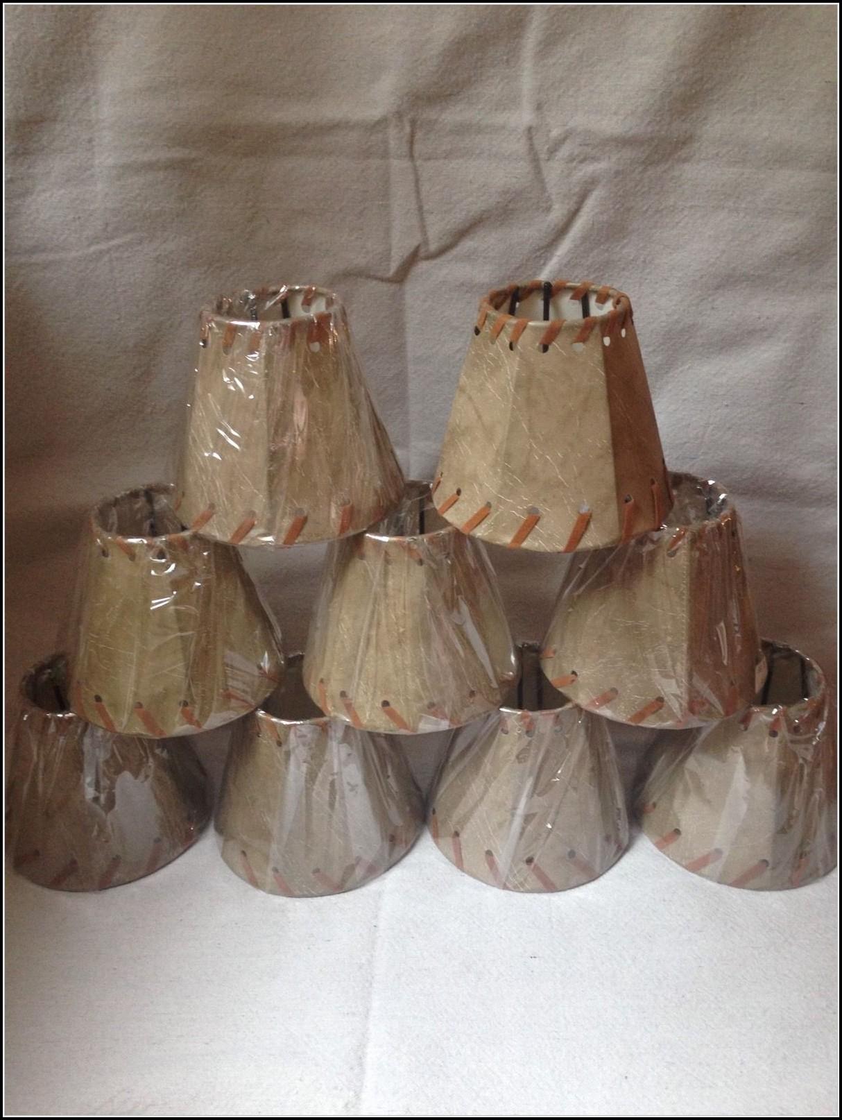 Faux Leather Mini Lamp Shades