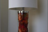 Fillable Clear Glass Table Lamp Base