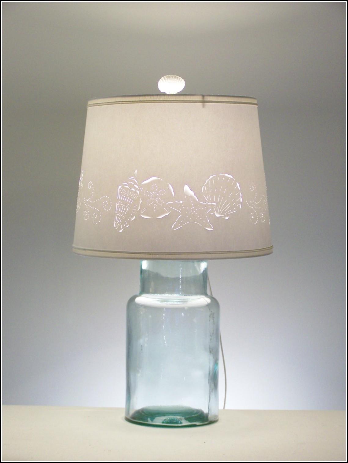 Fillable Glass Jar Table Lamp