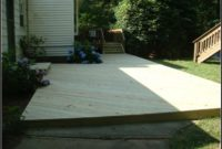 Floating Deck Over Concrete Patio