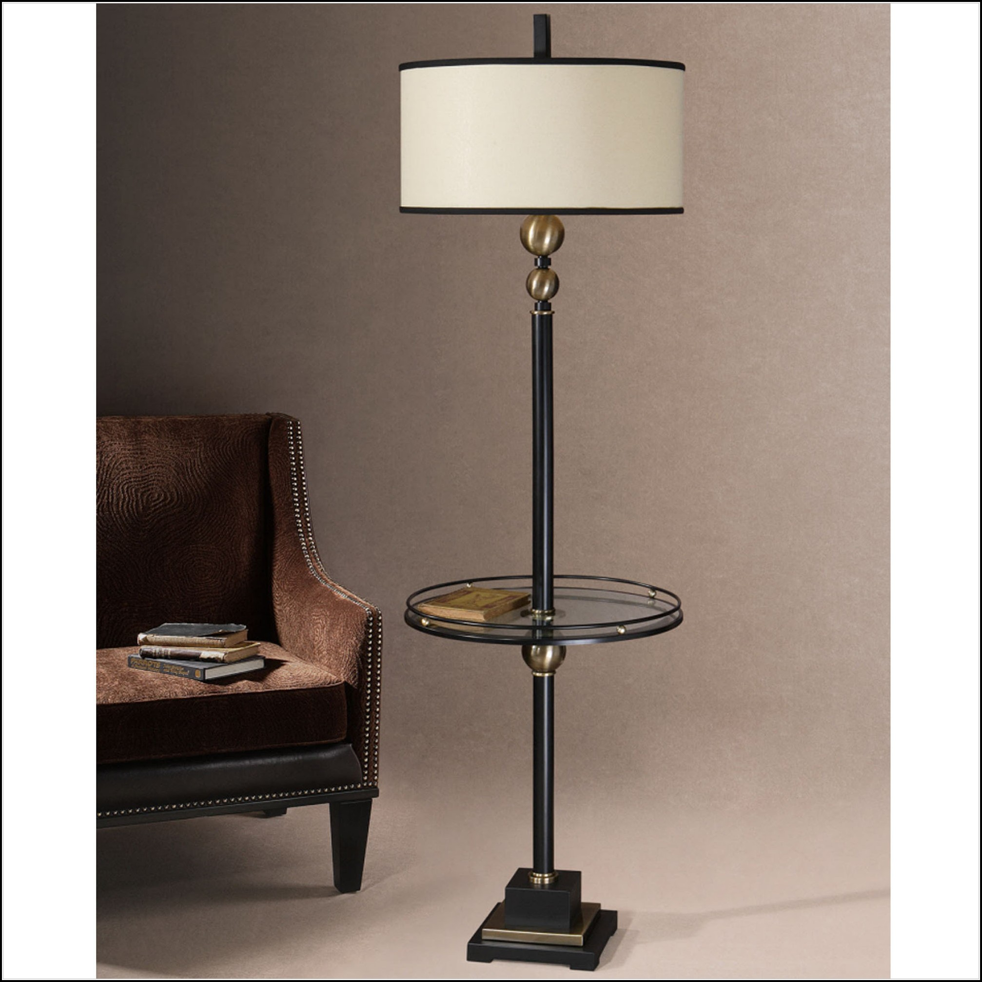 Floor Lamp With Glass Table Attached