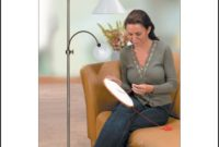 Floor Lamp With Magnifying Glass