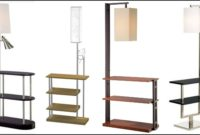 Floor Lamp With Shelves Brown