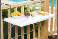 Folding Deck Rail Table