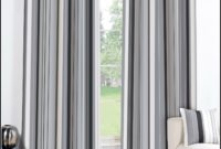 Grey Striped Curtain Panels