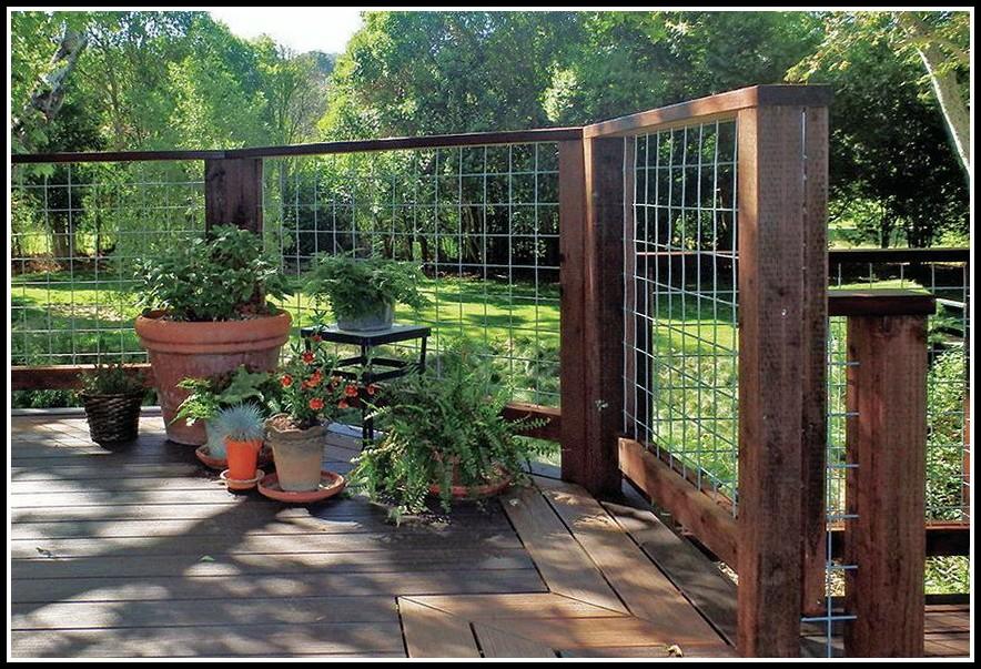 Hog Wire Deck Railing Plans Decks Home Decorating Ideas