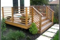 Horizontal Wood Deck Railing Ideas