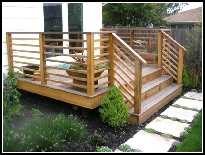 Horizontal Wood Deck Railing Ideas