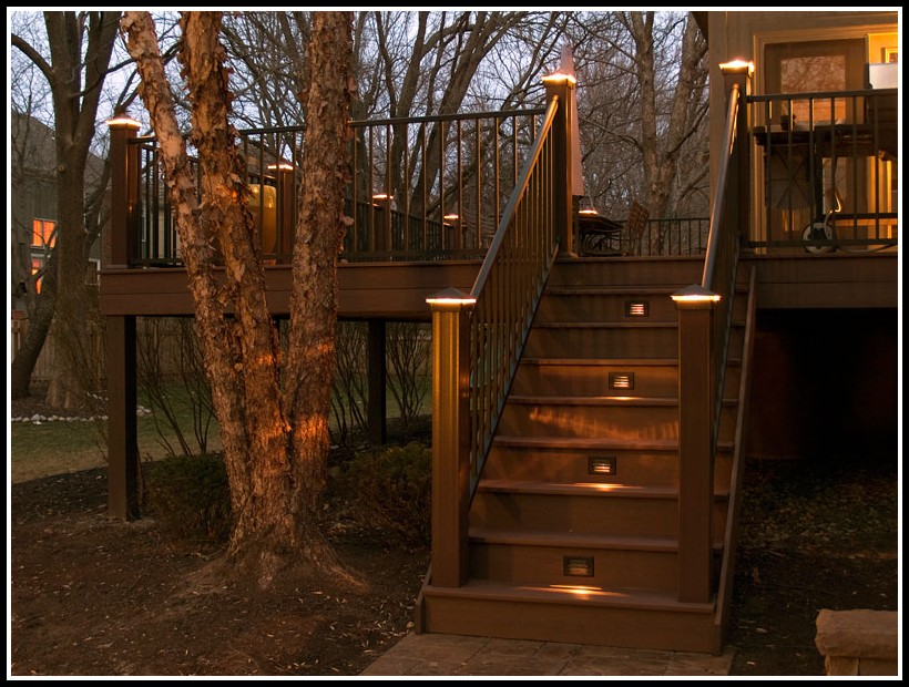 Low Voltage Deck Lighting Ideas Decks Home Decorating