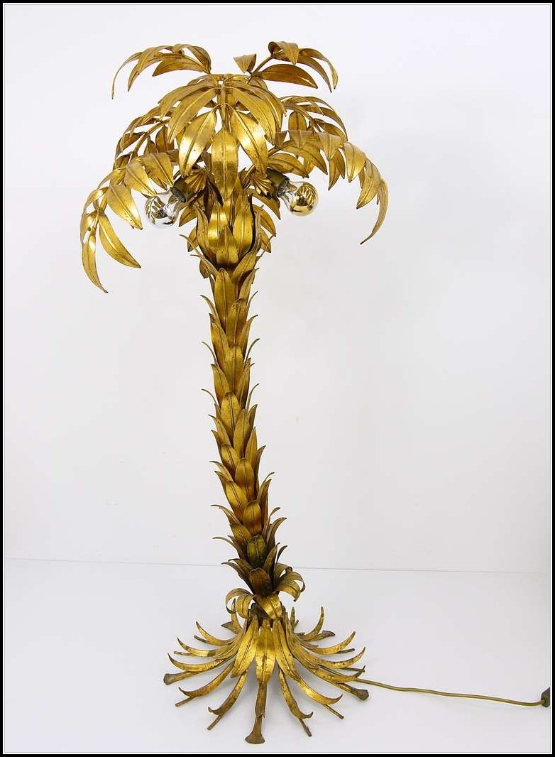 Metal Palm Tree Floor Lamp