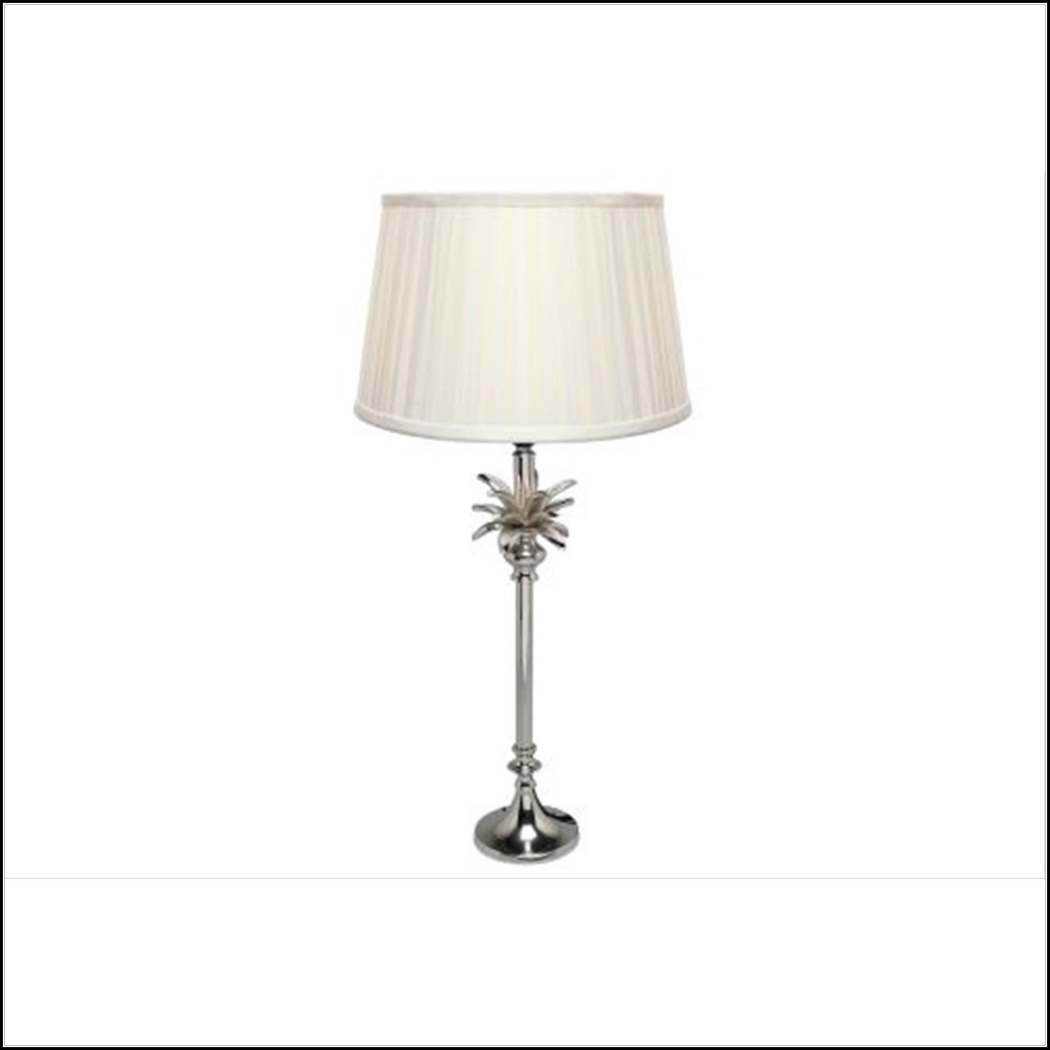Palm Tree Nickel Table Lamp