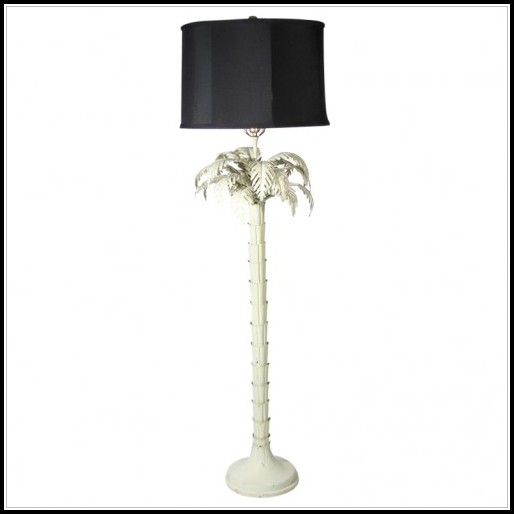 Rattan Palm Tree Floor Lamp