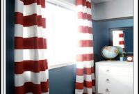 Red Striped Curtain Panels