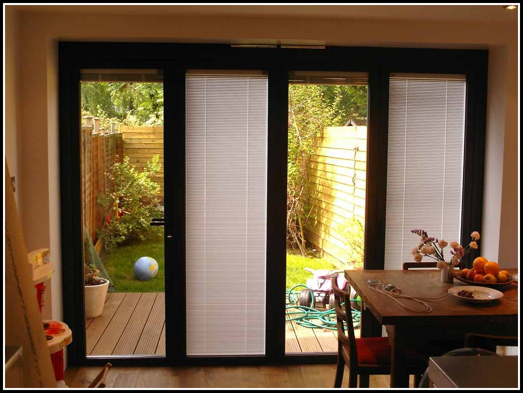 Sliding Glass Door Blinds Or Curtains - Curtains : Home ...