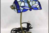 Stained Glass Dragonfly Desk Lamp