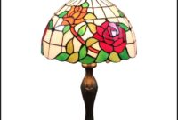 Stained Glass Table Lamp Roses