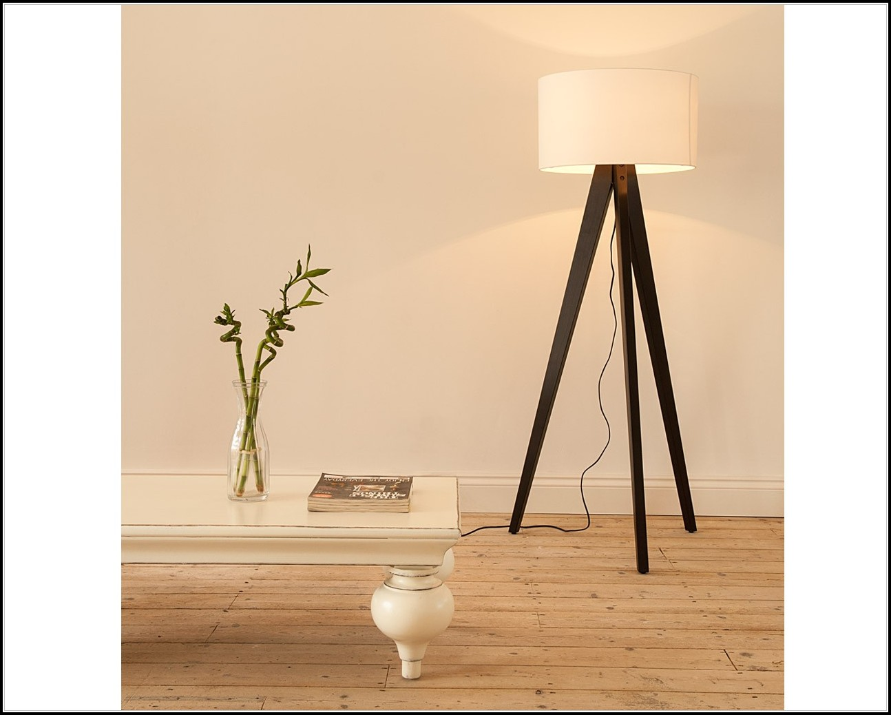 Studio Wood Tripod Floor Lamp