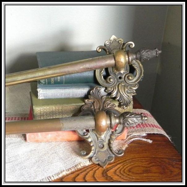 Vintage Brass Curtain Rods