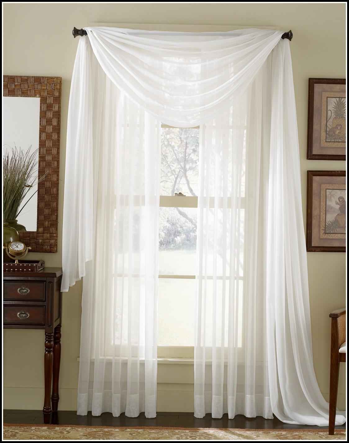 Wrap Around Curtain Rod White
