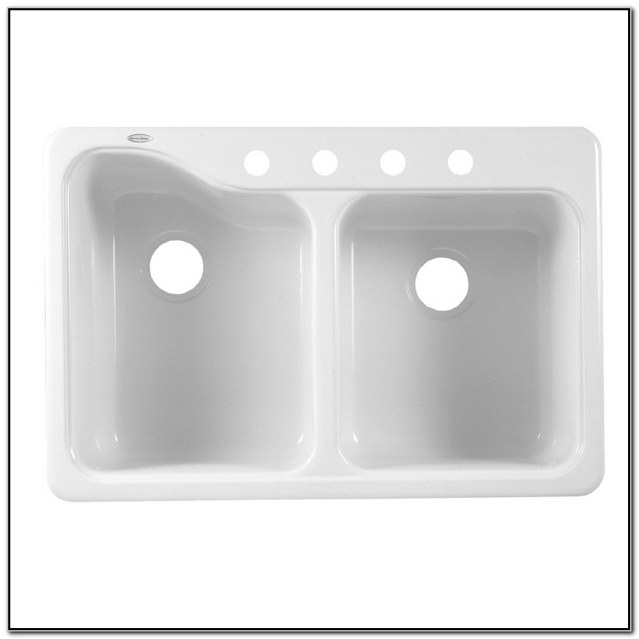 Double Porcelain Kitchen Sink.American Standard Double Basin Porcelain Kitchen Sink Sink