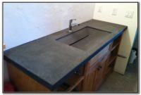 Bathroom Counter With Integrated Sink