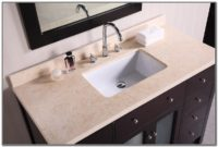 Bathroom Countertop With Sink On Right Side